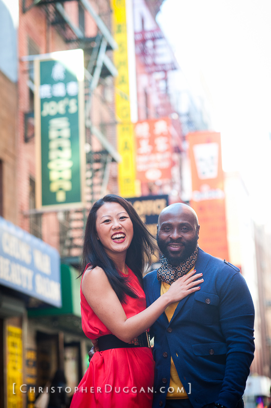 Peng & Edirin NYC Engagement Photos
