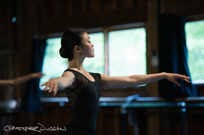 A ballet program student in Nina Danilova's class by Christopher Duggan