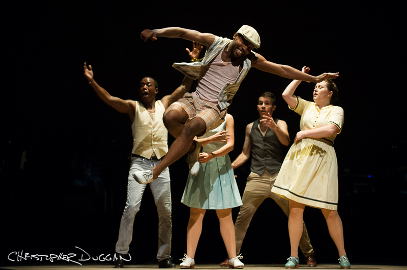"Byron Tittle of Dorrance Dance in ""The Blues Project""; photo Christopher Duggan"