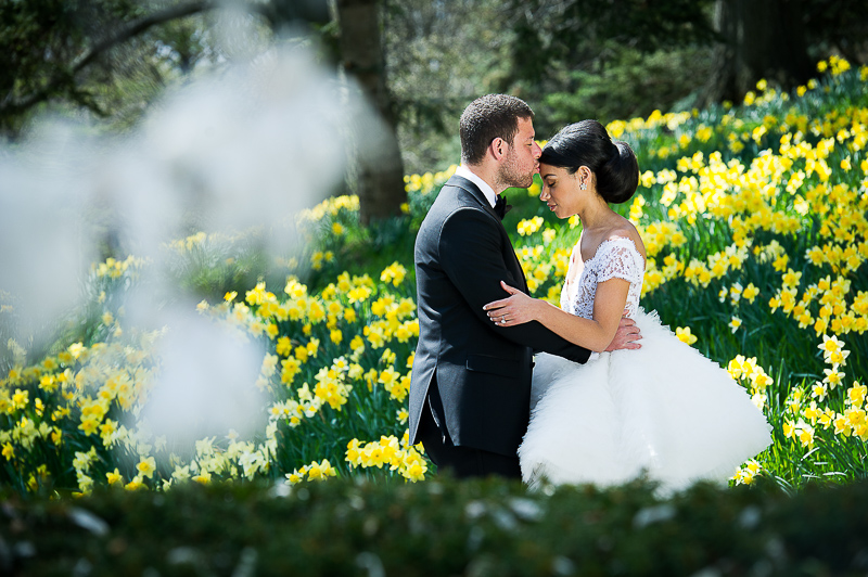 Ruth & Marcel wedding photo at Brooklyn Botanic Gardens