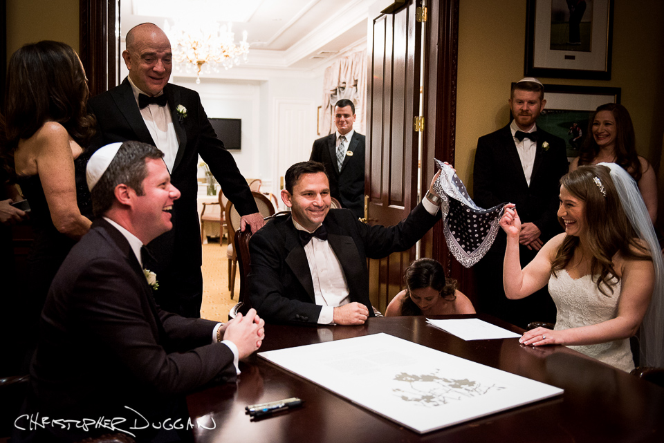 Abby & Evan's Country Club Wedding. Photos by: Christopher Duggan
