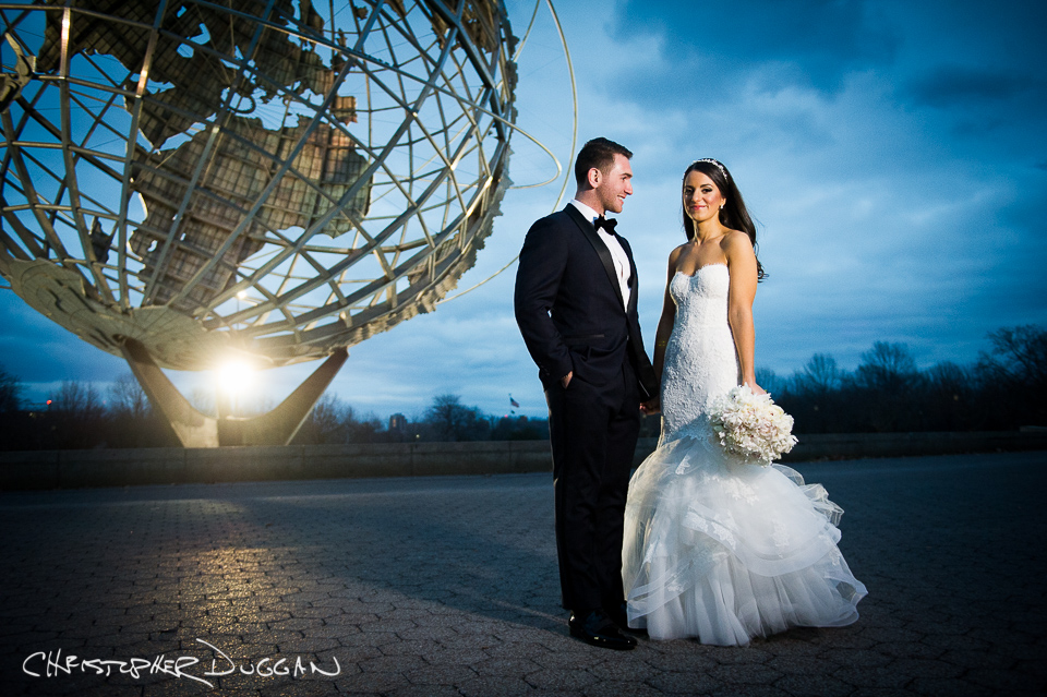 Mariel & Ryan's Queens Museum wedding photography by Christopher Duggan
