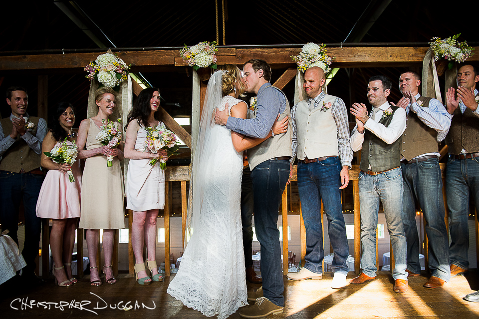 Erin & Doug's Gedney Farm wedding photography by Christopher Duggan