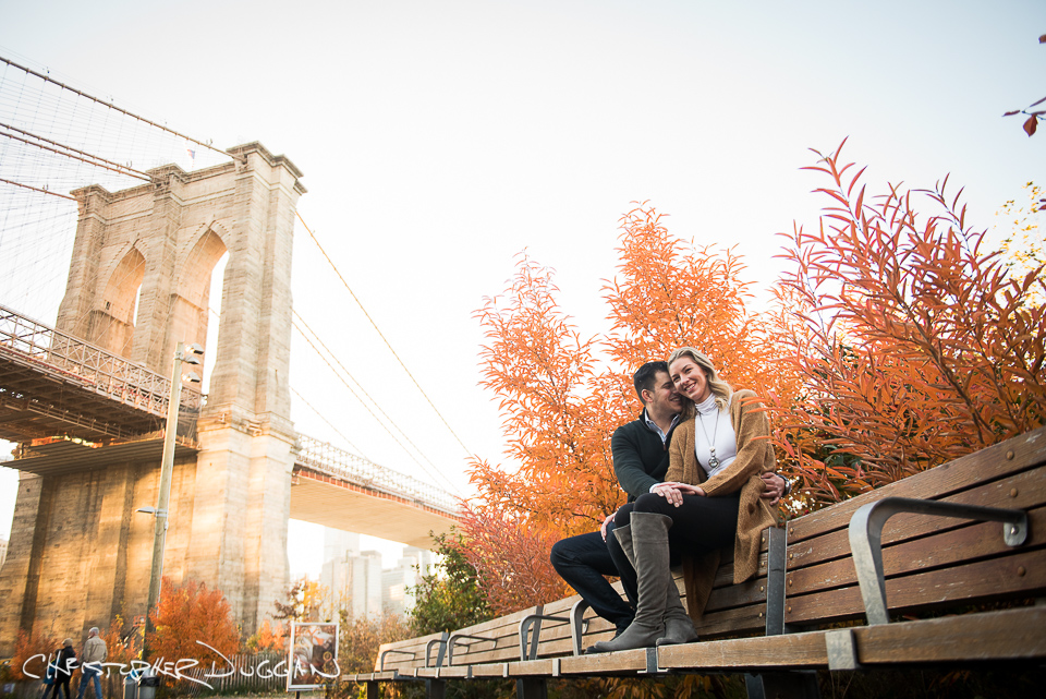 Brooklyn Bridge Park Engagement Photos Tamara & Marko. Photo Credit: Christopher Duggan