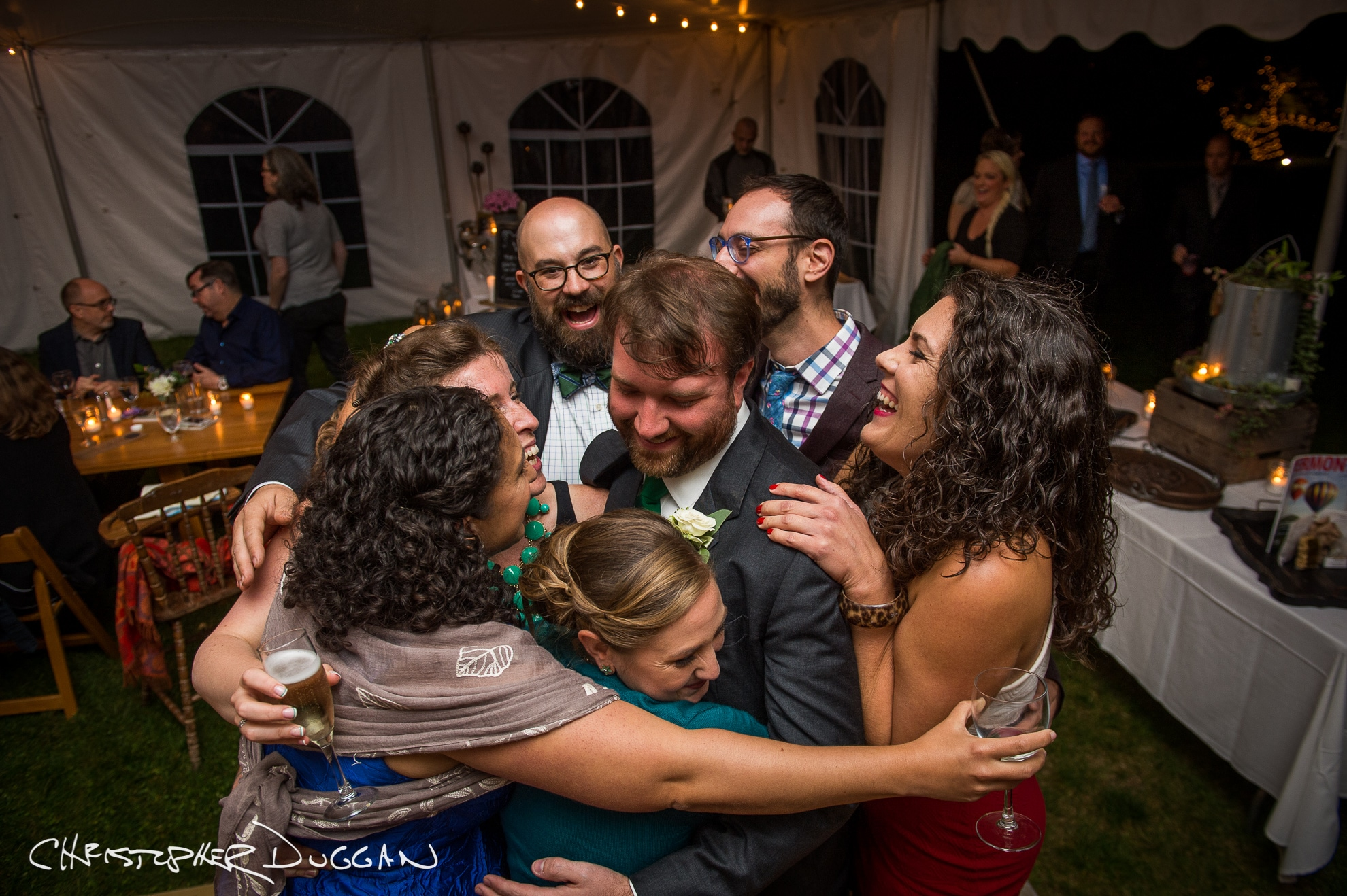Kate & Evan's Wedding Photos at Red Clover Inn & Restaurant in Vermont. Photo Credit: Christopher Duggan