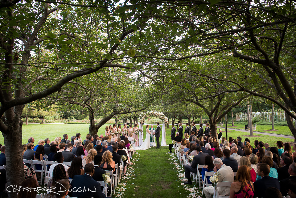 Michele tyler brooklyn botanic garden wedding not only were family and friends a huge part of michele and tylers big day but their adorable corgi made an appearance in a few family wedding photos too junglespirit Choice Image