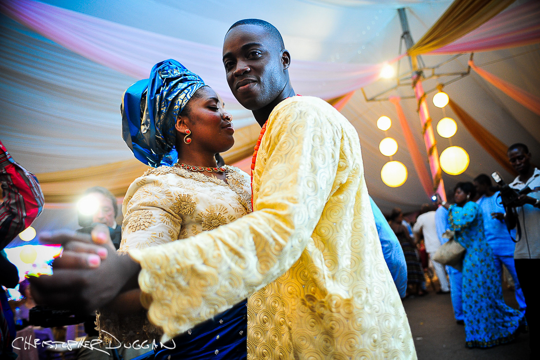 Somali husband and wife on honeymoon