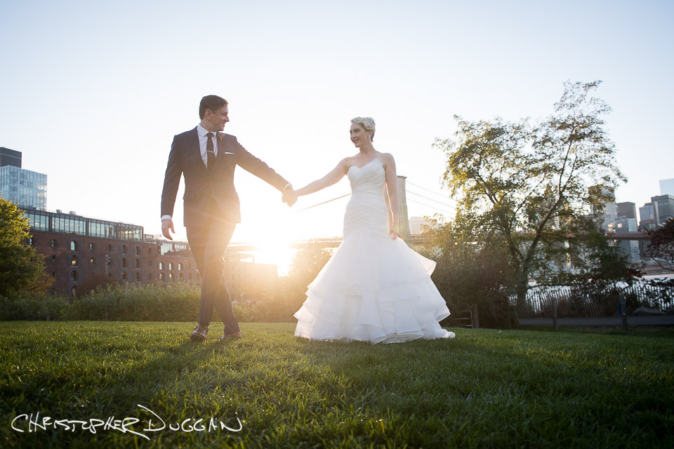 Chelsea & Charlie's Brooklyn Bridge wedding by Christopher Duggan