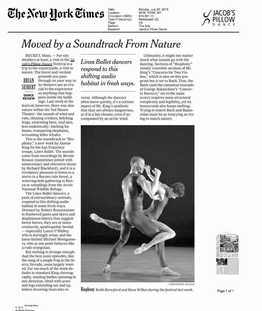 Jacobs Pillow 2015 | Photographing Dance for The New York Times