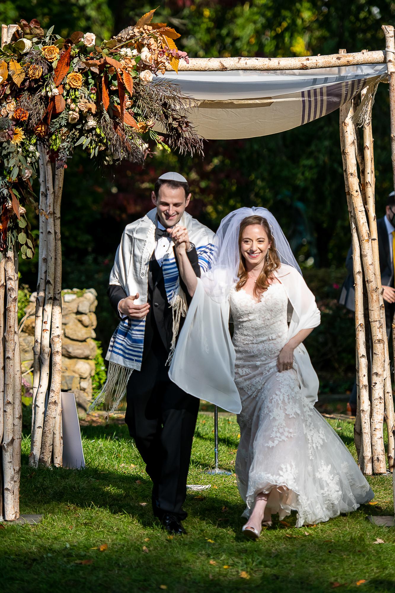 Erica & Michael's micro-wedding at Bet Am Shalom; photos by Christopher Duggan